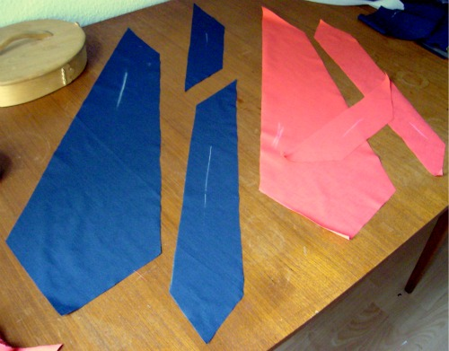 tie fabric lining parts How to make a Tie 