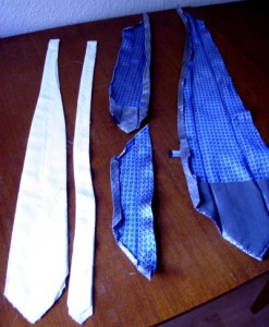 tie piezas 247x300 How to make a Tie 
